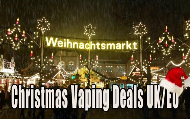 Christmas vaping and e-cig deals