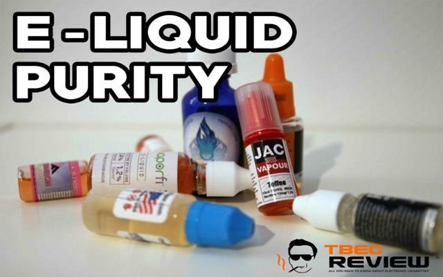 E liquid Purity