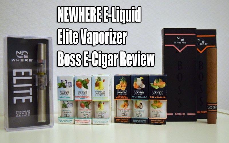 NEWHERE E-Liquid Elite Vaporizer Boss E-Cigar Review