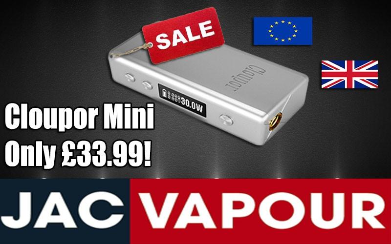 UK and EU Vapers can get the Cloupor Mini for just £33.99 at JAC Vapour UK