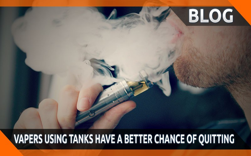 Study shows vapers using tanks have a better chance of quitting