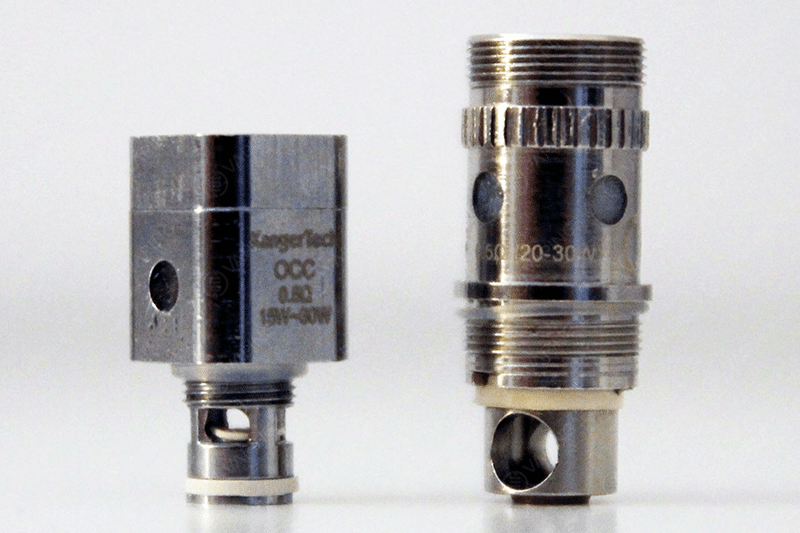 Aspire Atlantis Coil (Right) vs Kanger Subtank Coil (Left)
