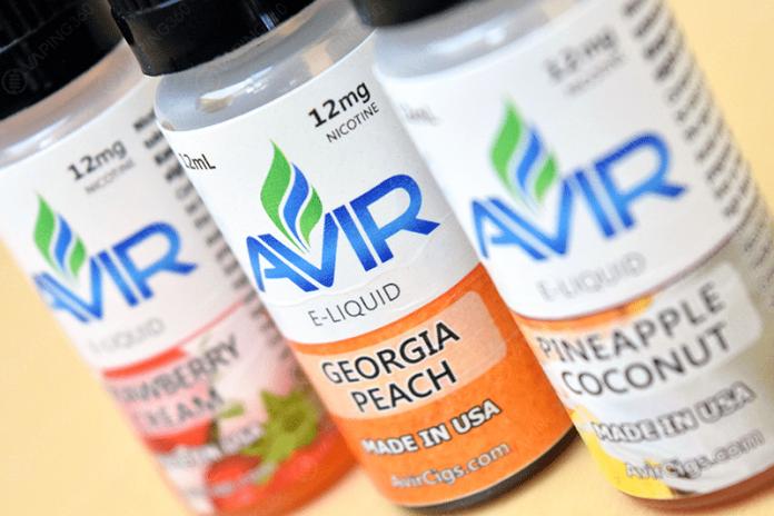 Avir Vape E-Liquid Labels