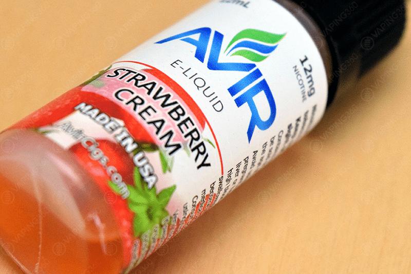 Avir Vape E-Liquid Strawberry Cream