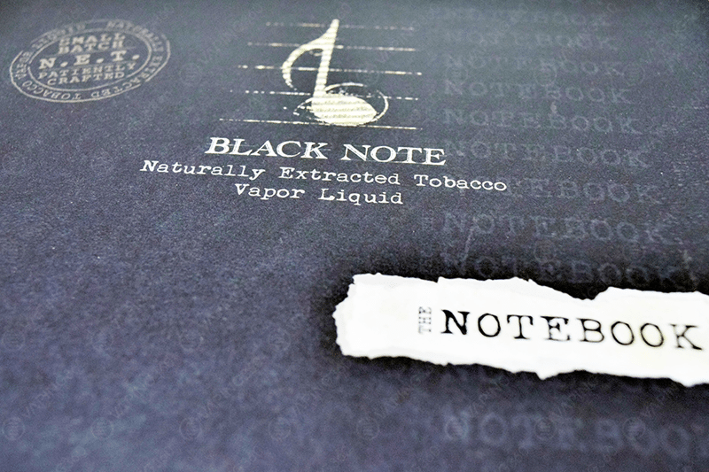 Black Note E-Liquid The Notebook