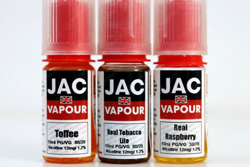 Jac Vapour E-Liquid Labels