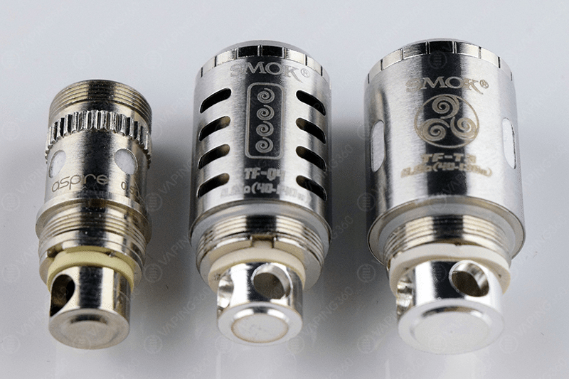 Aspire 0.5, SMOK TFV-4 TF-Q4 and the TF-T3 Coil