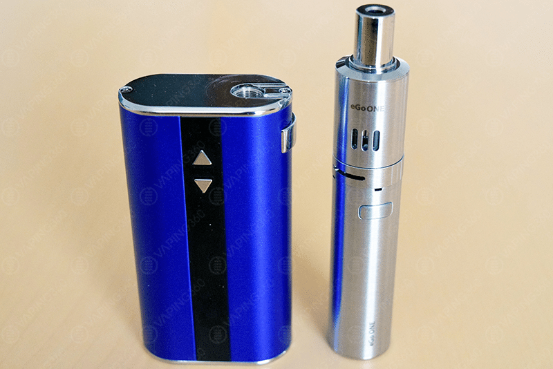 Joyetech eGo One next to the iStick 50W