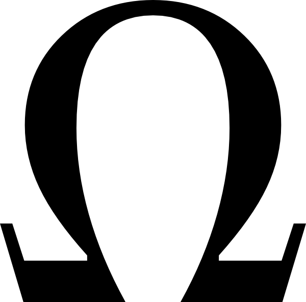 Greek Ohm Symbol