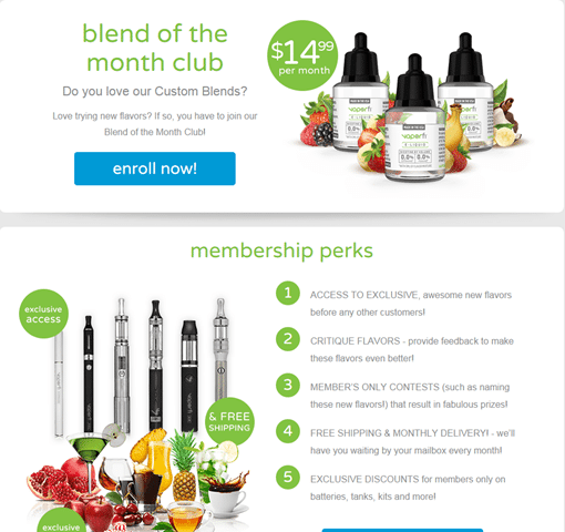 Vaporfi Blend of the Month Club