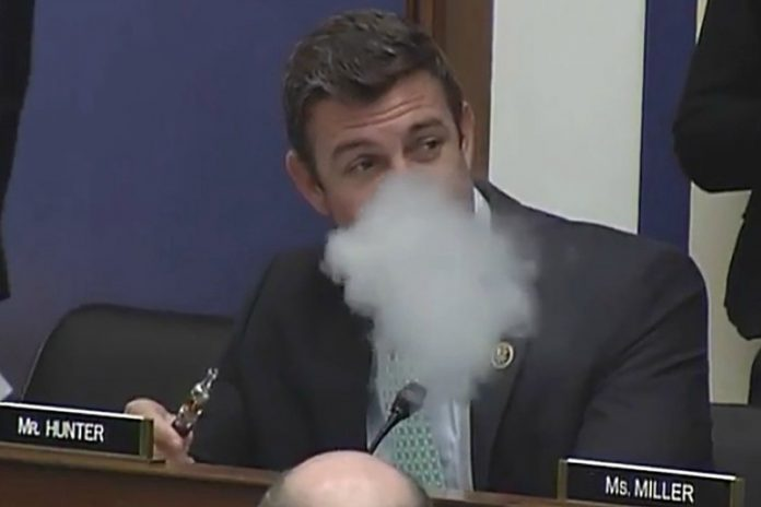 Congressman Vaping duncan hunter