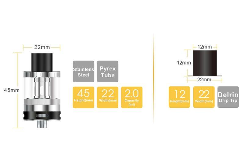 Aspire EVO75 Starter Kit Specs