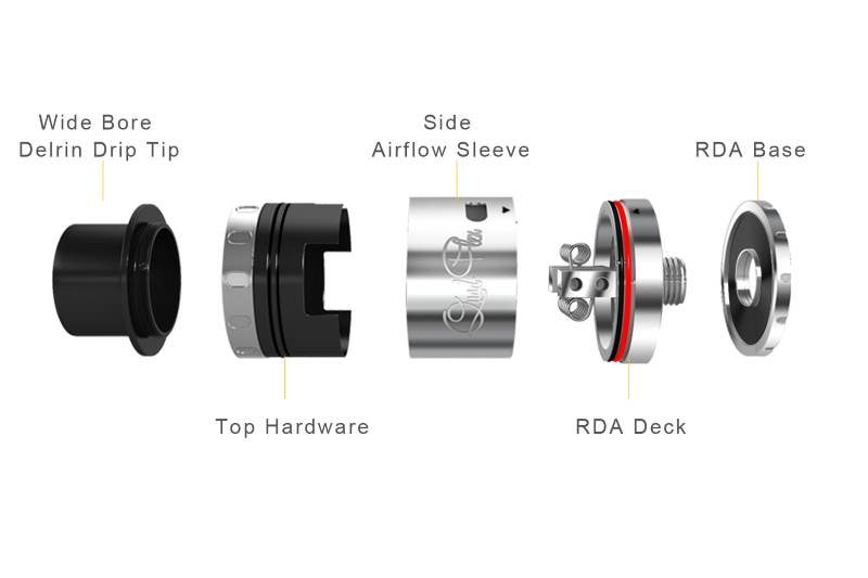 Aspire Quad-Flex RDTA RDA mode disassembled