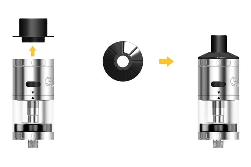 Aspire Quad-Flex RDTA cap options