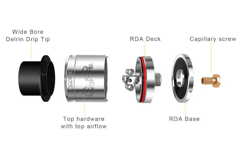 Aspire Quad-Flex RDTA squonker mode disassembled