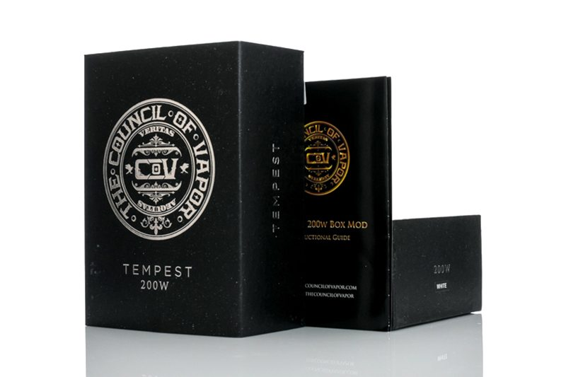 Council of Vapor Tempest 200W Packaging