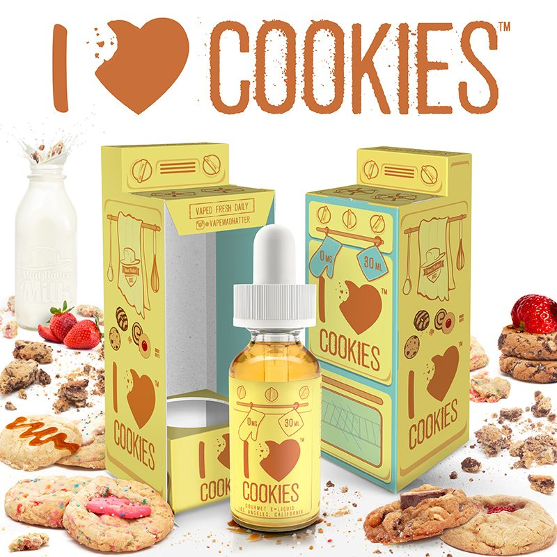 Mad Hatter E-Liquid I Love Cookies