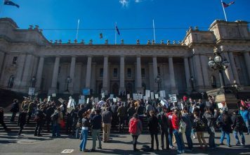 Melbourne Vape Rally at Parliament House - Peter James Photography