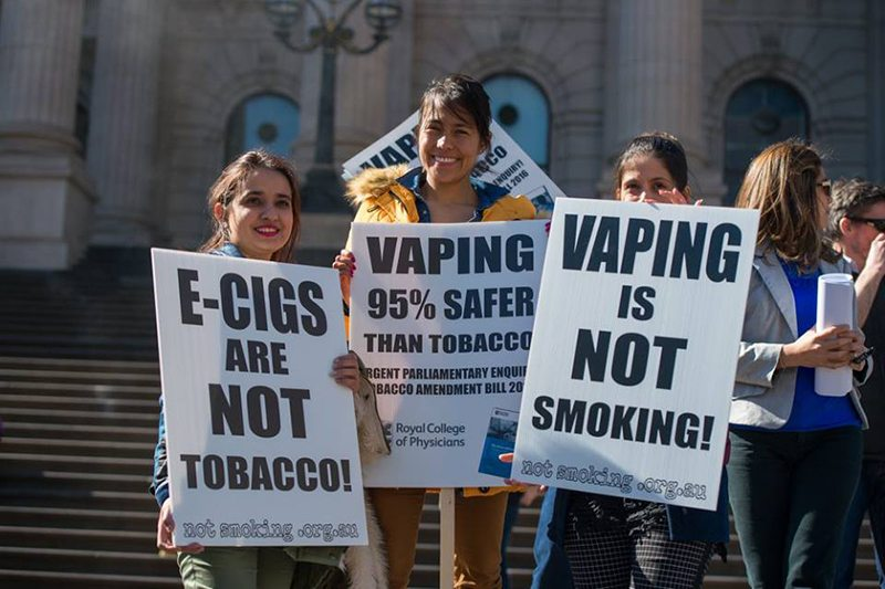 Vapers at Parliament House Rally - Peter James Photography