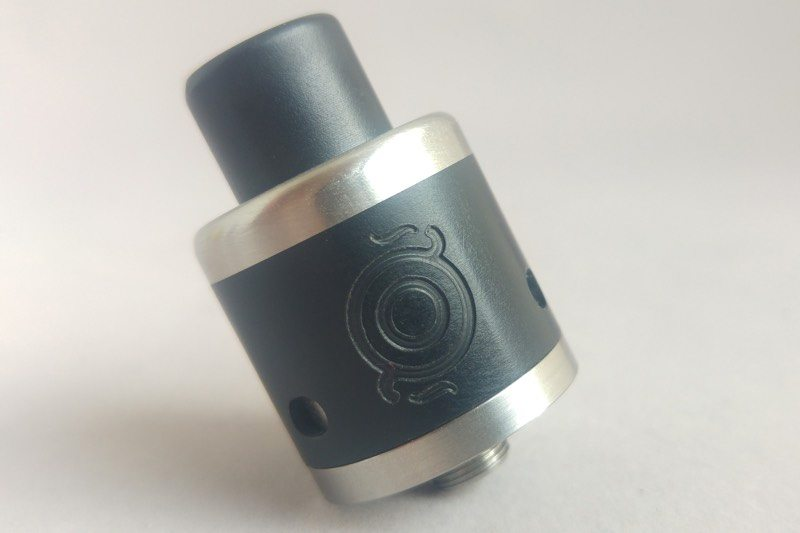 vapourart-gp-dripper-black-ultem-steel-accent-tilted