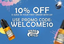 VapeWild Welcome 10 Promotion