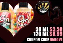 Om Vapors Valentines Day Sale