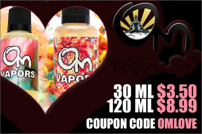 Om Vapors Valentines Day Sale