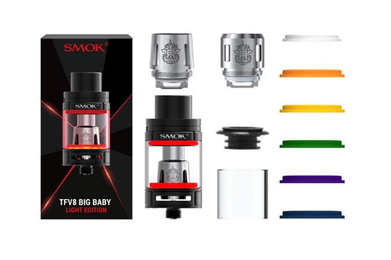 SMOK TFV8 Big Baby Light tank kit content