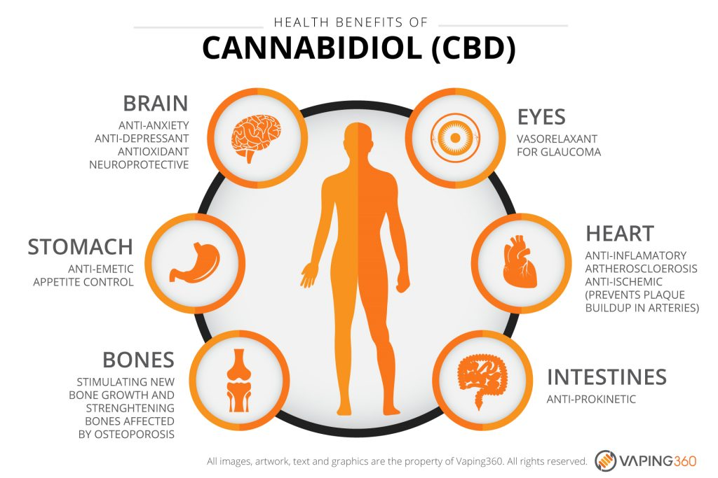 Health Benefits of CBD infographic