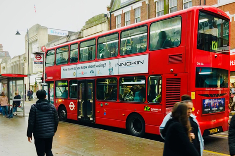 Innokin Cooperates with London Buses for Stoptober Educational Ad Campaign