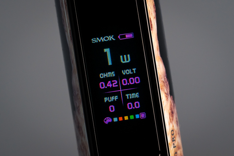 SMOK RPM80 Pro Pod Mod review - display